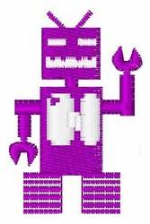 Robot Invaders Font N embroidery design