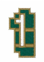 Circuit Board Font 1 embroidery design