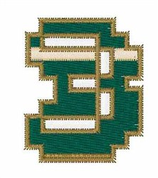 Circuit Board Font 3 embroidery design