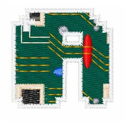 Circuit Board Font A embroidery design