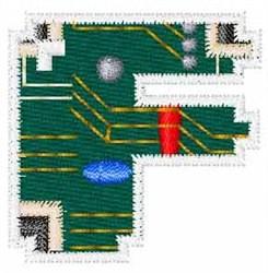 Circuit Board Font F embroidery design