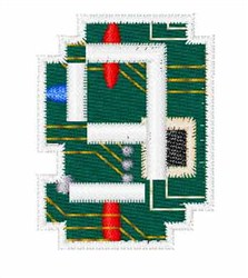 Circuit Board Font g embroidery design