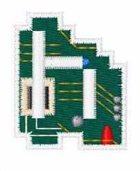 Circuit Board Font h embroidery design