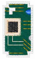 Circuit Board Font I embroidery design