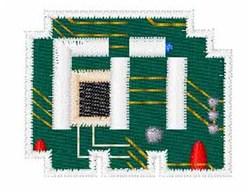Circuit Board Font m embroidery design