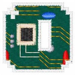 Circuit Board Font O embroidery design