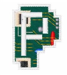 Circuit Board Font p embroidery design