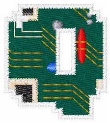 Circuit Board Font Q embroidery design