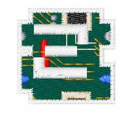 Circuit Board Font z embroidery design