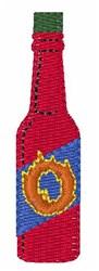 Hot Sauce Font O embroidery design