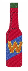 Hot Sauce Font W embroidery design