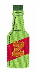 Hot Sauce Font z embroidery design
