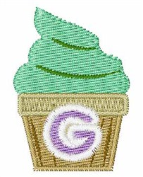 Cupcakes Font G embroidery design