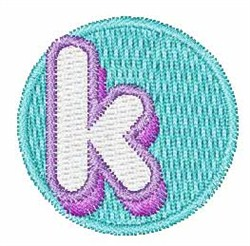 Cupcakes Font k embroidery design