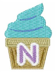Cupcakes Font N embroidery design