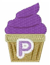 Cupcakes Font P embroidery design