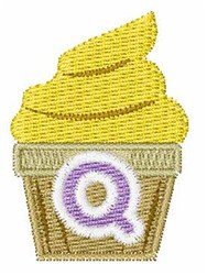 Cupcakes Font Q embroidery design