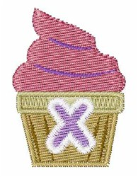 Cupcakes Font X embroidery design
