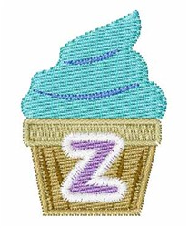 Cupcakes Font Z embroidery design