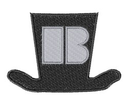 Dapper Hat  Font B embroidery design