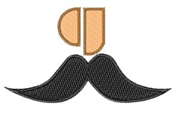 Mustache Font g embroidery design