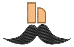 Mustache Font h embroidery design