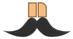 Mustache Font n embroidery design