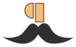Mustache Font q embroidery design