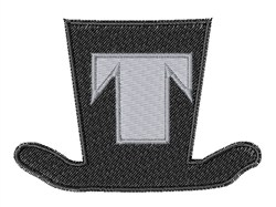 Dapper Hat Font T embroidery design