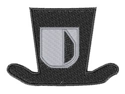 Dapper Hat Font U embroidery design