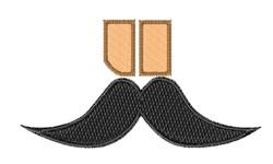 Mustache Font u embroidery design