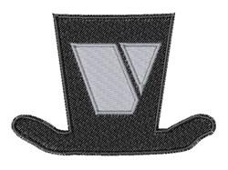 Dapper Hat Font V embroidery design