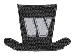 Dapper Hat Font W embroidery design