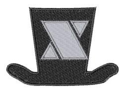 Dapper Hat Font X embroidery design