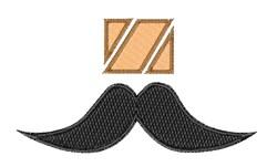 Mustache Font z embroidery design