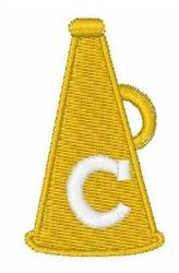 Cheerleader Font c embroidery design