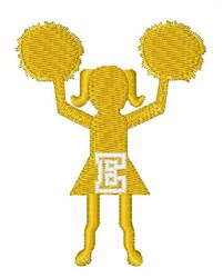 Cheerleader Font E embroidery design
