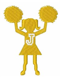 Cheerleader Font J embroidery design