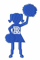 Cheerleader Font R embroidery design