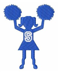 Cheerleader Font S embroidery design
