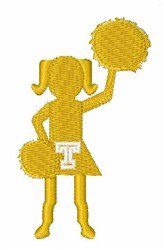 Cheerleader Font T embroidery design