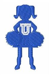 Cheerleader Font U embroidery design