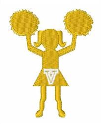 Cheerleader Font V embroidery design