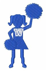 Cheerleader Font W embroidery design