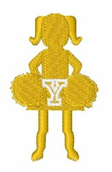 Cheerleader Font Y embroidery design