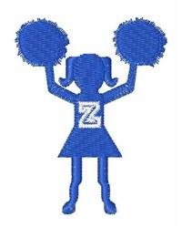 Cheerleader Font Z embroidery design