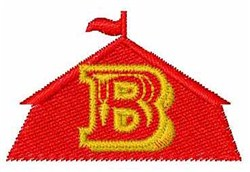 Circus Tent  Font B embroidery design