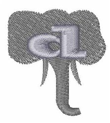 Elephant Font d embroidery design