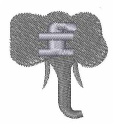 Elephant Font f embroidery design