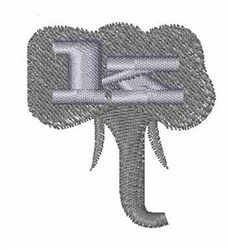 Elephant Font k embroidery design